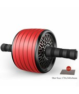 TPR Wider AB Roller No Noise With Mat For Abdominal Core Muscle Exercise... - $31.75