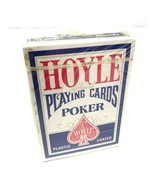Vtg Sealed Hoyle Official Poker Playing Cards Plastic Coated 1980s Blu USA - $7.91