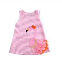 NWT Girls Flamingo Pink Sleeveless Ruffle Dress 18 M 2T 3T 4T - $10.99