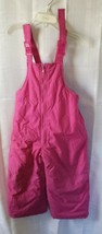 Toddler & Little Girls Pink Water & Wind Resistant Snow Bib Overalls Ski... - $19.75
