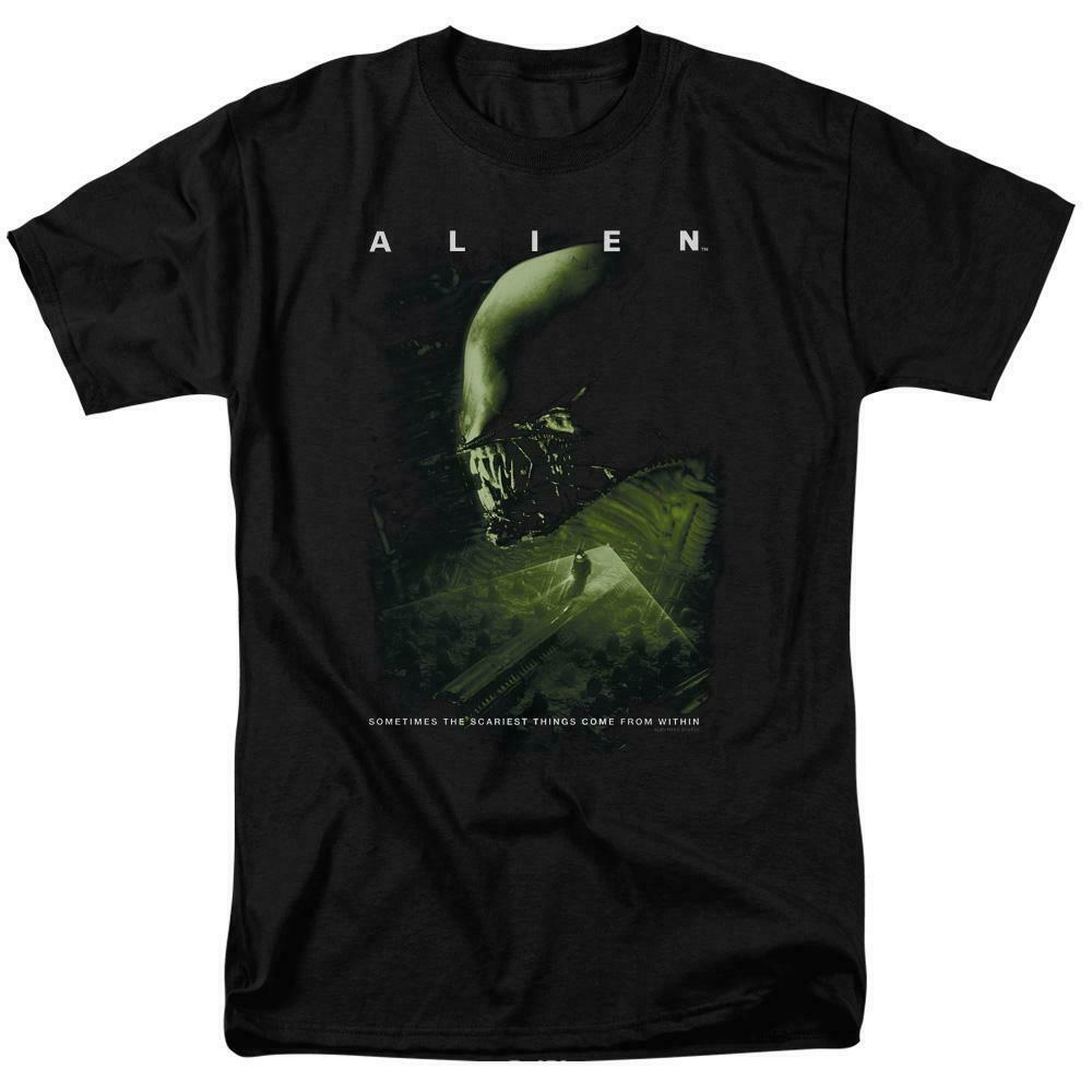 Alien t-shirt Scariest Things Within retro 70's 80's Sci-Fi graphic tee TCF108