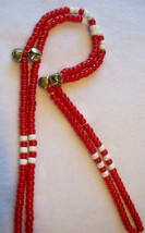 ENDURANCE RED ~ HORSE RHYTHM BEADS ~ Size 54 Inches - $19.00