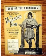 Song of the Vagabonds 1925 Sheet Music - $1.75