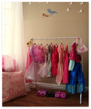 Children's Garment Rack, Dress Up Storage-  Includes 10 Black Velvet Han... - $39.95