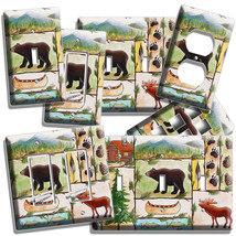 Hunting Cabin Fever Moose Bear Fishing Light Switch Outlet Wall Plate Room Decor - $10.99+