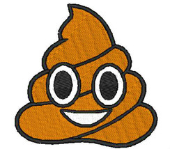 Poo Emoji Embroidered Patches Iron Sew On Bag Cap Jeans Jacket Badge App... - $2.69