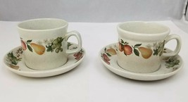 Wedgwood Quince Coffee Cup and Saucer Set of 2 Made in England Oven to T... - $24.18