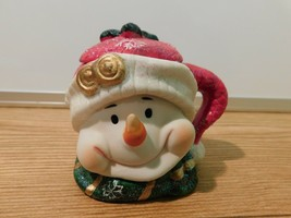 Christmas Snowman Candle Holder Christmas Ornament decoration with candl... - $15.34