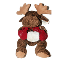 Wishpets Brown Moose Plush Christmas Animal Reindeer Soft Cuddly Stuffed... - $9.90