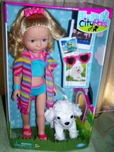 """Cititoys City Pals MAYA from MIAMI 14.5"""" Doll & her POODLE Milo New - $34.16"""