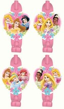 Disneys Fanciful Princess Party Favor Blowouts Birthday Supplies 8 Per P... - $2.48