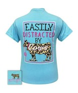 New GIRLIE GIRL T SHIRT  Easily distracted by Cows - $22.76+