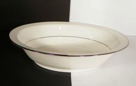 """Noritake SORRENTO Oval Vegetable Bowl 10"""" Retired White Flowers Platinum... - $39.55"""