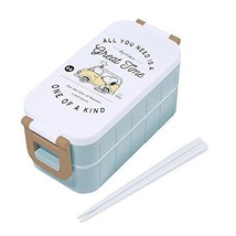 New Snoopy Lunch Box 2stage 600ml Beagle Wagon 85941 PEANUTS Made in Japan - $149.59