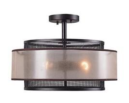 Kenroy Home Alessandra 3 Light Semi Flush, Blackened Oil Rubbed Bronze Finish - $147.17