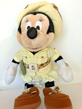 """Disney plush Safari Minnie Mouse stands about 14"""" tall with compass leopard bow  image 6"""