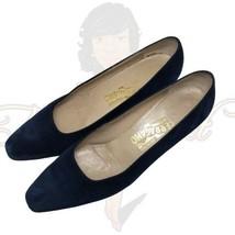 "Salvatore Ferragamo Women's Closed Toe Suede Slip-on 2"" Block Pumps Sz 9... - $59.88"