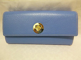New Kate Spade Grand Street Cyndy Continental Wallet Leather Blue  - $123.75