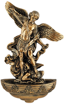 SAINT MICHAEL THE ARCHANGEL RESIN HOLY WATER FONT - $42.81