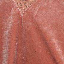 Express Women's Rosewood Pink Lace Trim Velvet Camisole Cami Tank Top Size S image 3