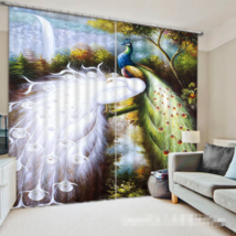 3D Peacock 282 Blockout Photo Curtain Printing Curtains Drapes Fabric Window UK - $145.49+