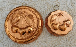 Vintage Cherry Copper Wall Hanging Mold Set of Two - $18.00