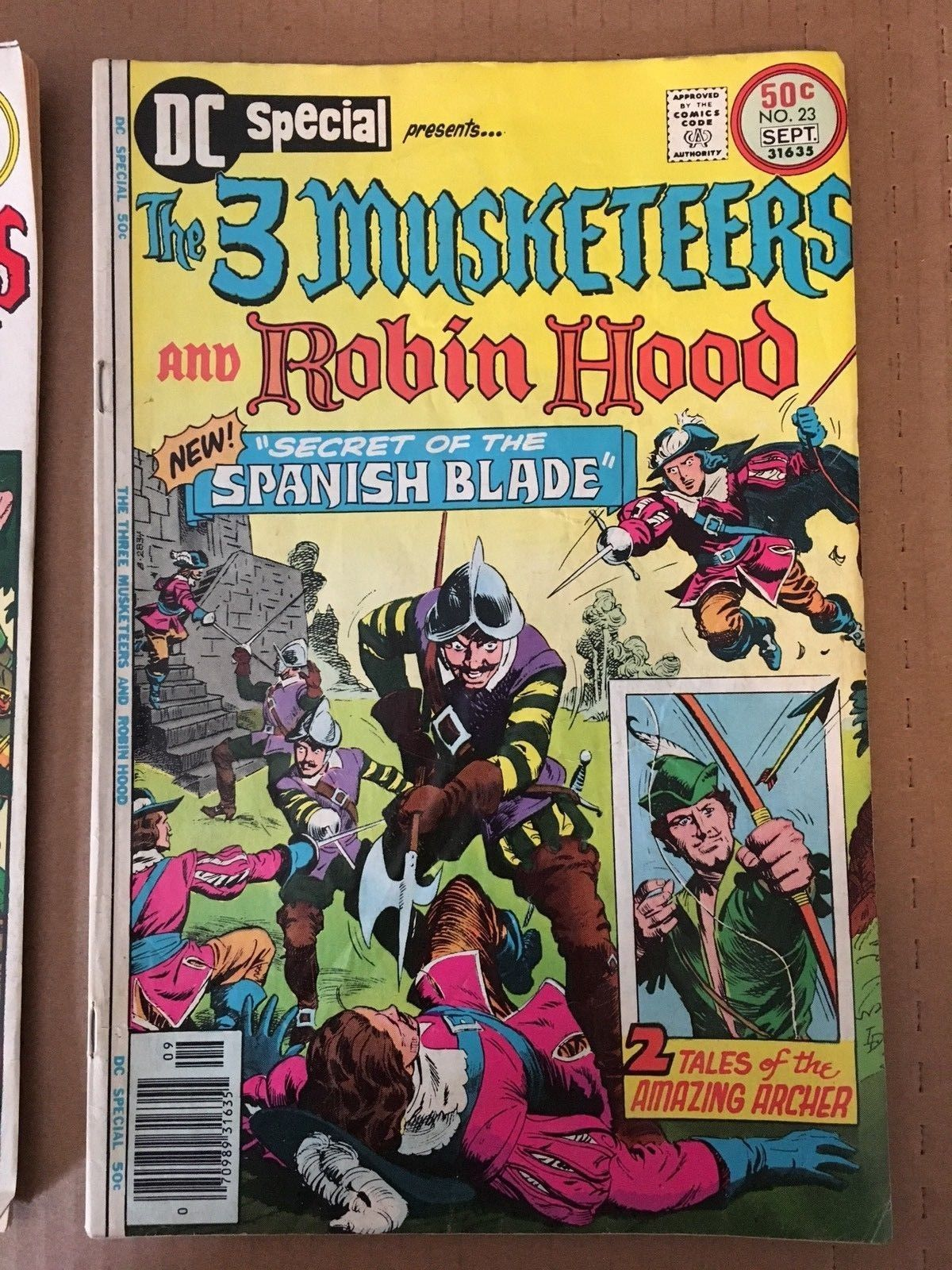 The Three Musketeers & Robin Hood #22 23 DC Special Comic Book Lot 1976 VG 5.0