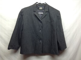 Ladies Harris Wallace New York Gray Blazer/Jacket Sz 12P