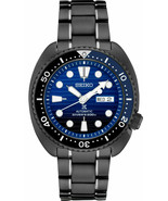 New Seiko Prospex Turtle Divers 200M Black IP Bracelet Men's Watch SRPD11 - $296.00