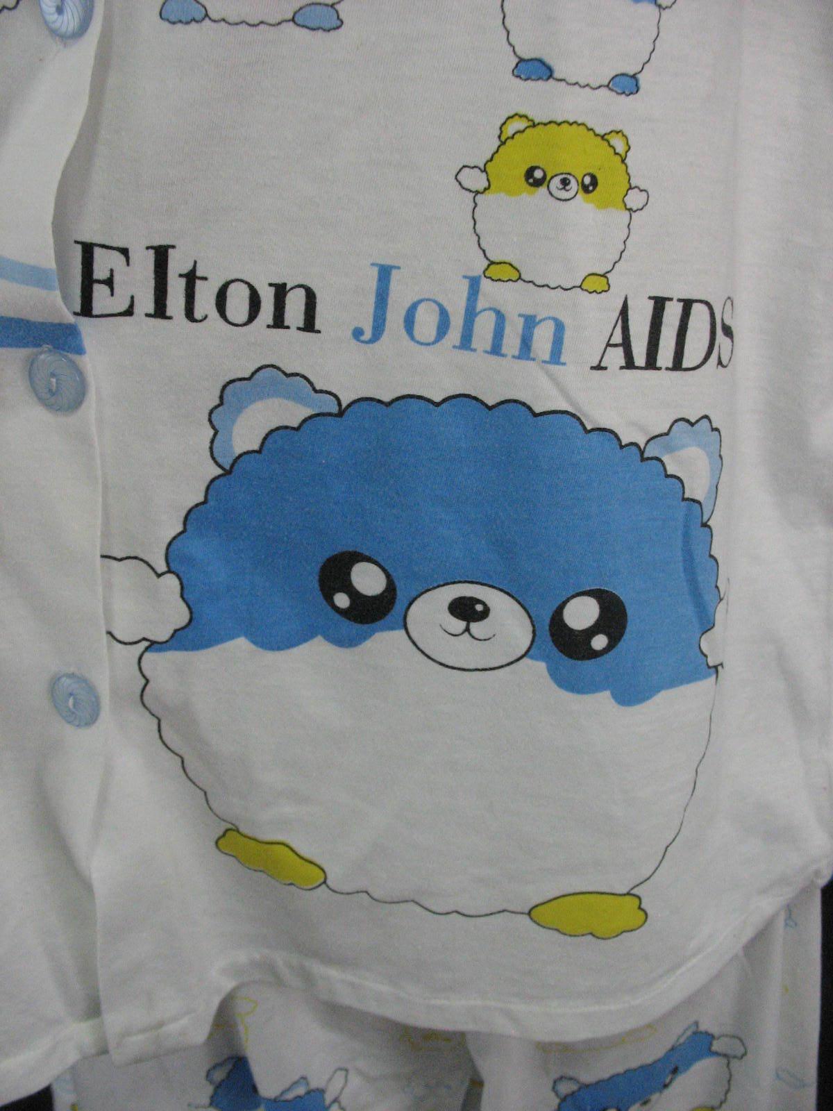 Elton John Aids Foundation Pajamas Small Cute Baby doll Two Piece image 3
