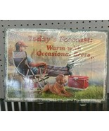 "Today's Forecast Warm With Occasional Beers Fishing Tin Wall Sign 16.75""... - $9.75"
