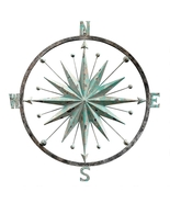 Rose of the Winds Compass Rose Wall Sculpture - $126.95