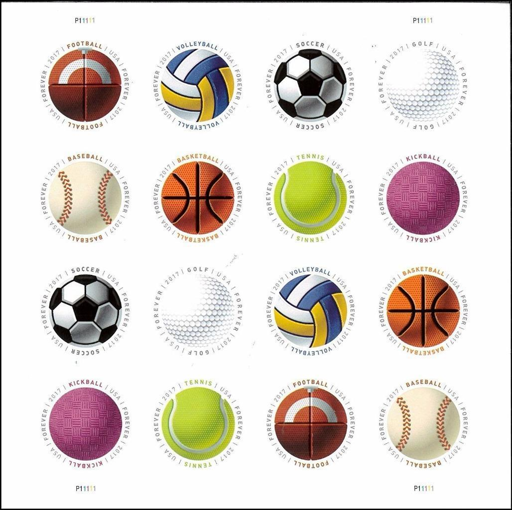 Have a Ball!-USPS Forever Stamps Sheet of 16-New 2017 Release-MNH-Free Shipping