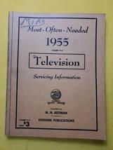 Vintage 1955 Most Often Needed Television Servicing MANUAL  Beitman Supr... - $14.50