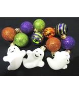 """(12) Halloween Mini Ghost Ball Plastic Glitter Ornaments 1.5"""" Decoration... - $23.99"""