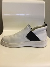STEVE MADDEN NOVAL SZ 9.5B PLATFORM SNEAKERS WHITE LEATHER - $41.18