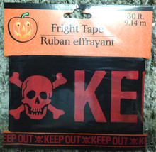 Zombie Fright Caution Tape-KEEP OUT-Halloween Party Prop Decoration-RED ... - $3.93