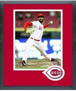 Amir Garrett 2018 Cincinnati Reds #50 -11x14 Team Logo Matted/Framed Photo - $43.55