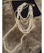 Authentic CLASSIC CHANEL RUNWAY Multi 6 STRAND Faux Pearl NECKLACE RARE - $1,200.00