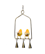 The Cardinal Couple Handpainted Decorative Door Hanging Wind Chimes Home... - $32.95