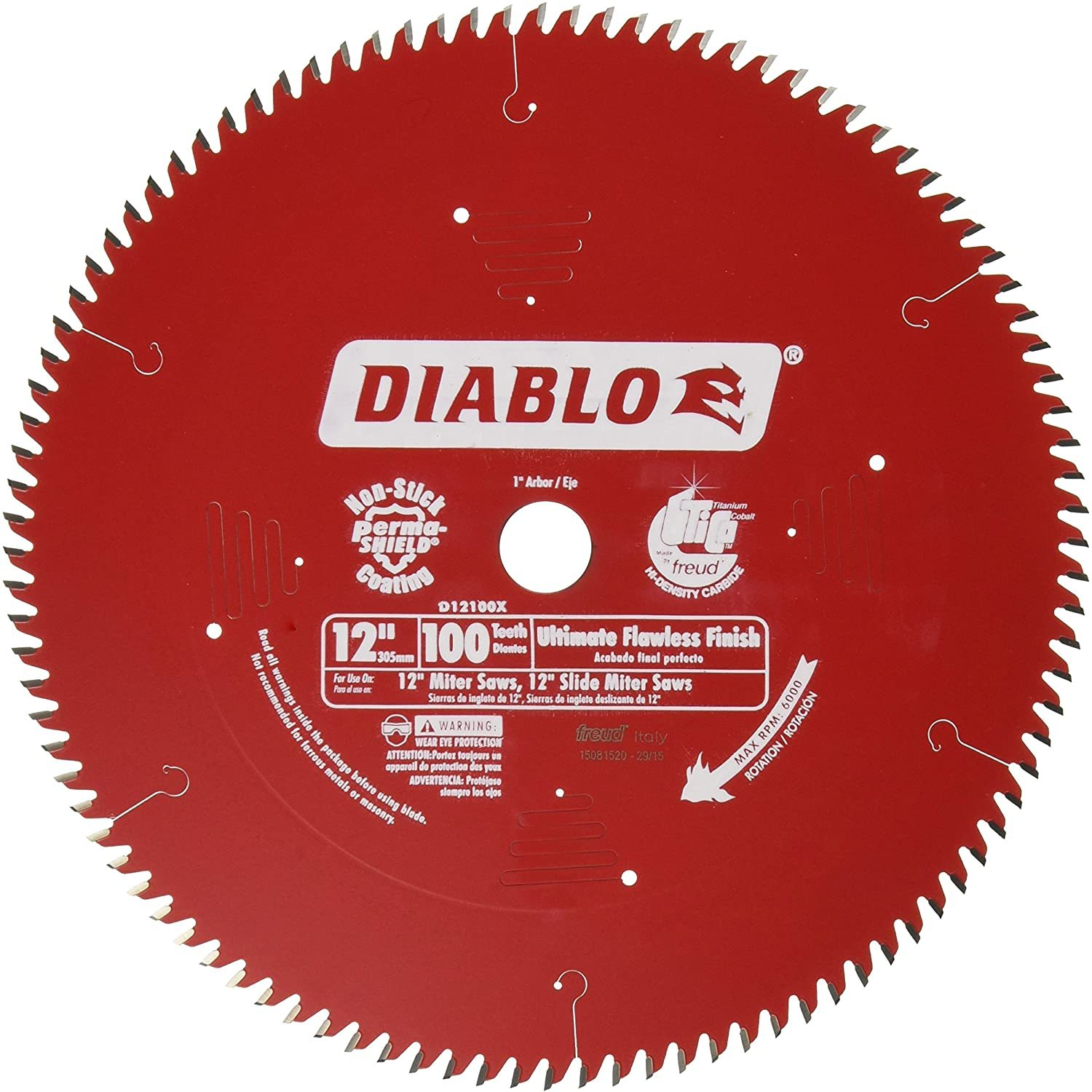 Primary image for Freud D12100X 100 Tooth Diablo Ultra Fine Circular Saw Blade for Wood and Wood C