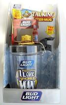 Vintage 1997 Bud Light I Love You Man Talking Beer Mug New Fishing Budwe... - $17.81