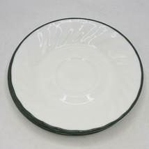 Corelle Grün Felge Weiß Wirbel Callaway Ivy Untertassen 15.9cm Breit Set... - $49.97