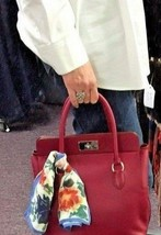 HERMES Ruby Swift Leather Toolbox 2-Way Bag with Removable Strap 26cm - $5,299.99