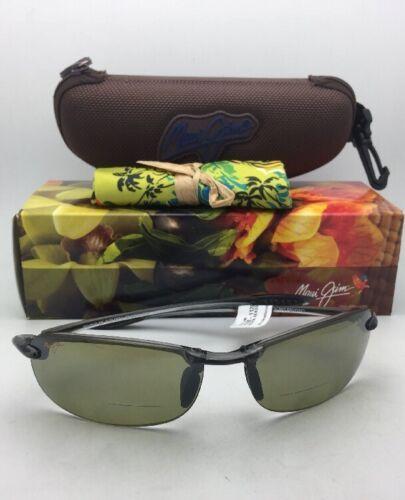 Maui Jim Lunettes de Soleil Makaha Lecteur + 2.5 Ht 805-1125 Gris Fumée avec