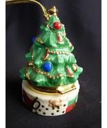LENOX Christmas Tree Ornament Hinged Box - $13.89