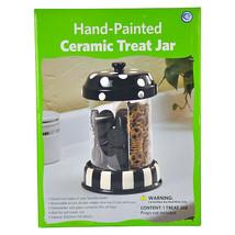Cookie Jar Hand-Painted Ceramic Treat Jar Kitchen Home Treats Storage Ca... - $58.51