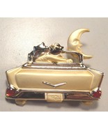 LOVERS LANE Cat Brooch Pin 57 Chevy in Gold-Tone - 2 inches - FREE SHIPPING - $19.95
