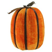 "Melrose 12.5"" Orange Autumn Pumpkin Bamboo Ribs Halloween Table Decor - $38.11"
