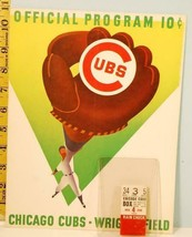 1958 Chicago Cubs Baseball Program vs Phillies June 4 Banks 2 HR's 151- ... - $47.52